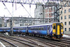 156445 leads 2Y82, 0820 Glasgow Central to Edinburgh Waverley away from Glasgow Central on 6th August 2012.