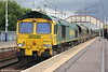 66547 at Holytown with 4S41, 0800 Fiddlers Ferry to Hunterston on 6th August 2012.
