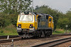 70017 is seen at Stoke Gifford, having arrived light from Wentloog as 0C52 on 1st September 2012. The loco had earlier hauled 4V50, 0508 Southampton to Wentloog.