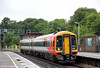 158881 approaches Southampton Central forming 2R30, 0856 Salisbury to Romsey Circular via Eastleigh on 12th June 2012.