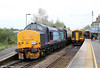 37409 'Lord Hinton' at Romsey, bringing up the rear of Pathfinder's 1Z61, 0623 Crewe to Eastleigh Works, 'The Hampshire Hotchpotch' on 5th May 2012.