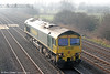 66512 passes Coedkernew running light from Pengam to Stoke Gifford on 1st March 2012.