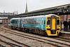158832 departs from Gloucester forming 2G62, 1415 Maesteg to Cheltenham Spa on 16th June 2012.