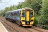 158870 is seen at Holytown forming 2Y44, 1318 Glasgow Central to Edinburgh Waverley on 6th August 2012.