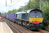 DRS 66426 passes Holytown with 4M82, 1556 Coatbridge to Daventry intermodal on 6th August 2012.