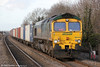 66543 passes Cholsey with 4O02, 1111 Birmingham Lawley St. to Southampton Maritime on 15th December 2012.