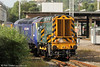 Landore's 08795 - the former D3963 - shunts power car 43158 on 30th June 2012.