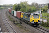 After a signal check, 70008 accelerates through Undy with 4O51, 0955 Wentloog to Southampton on 27th April 2012.