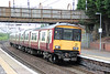 318257 calls at Motherwell forming 2B36, 1041 Milngavie to Lanark on 5th August 2012.
