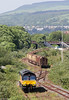 66846 runs around its train of timber at Briton Ferry Yard before departing with 6Z51, 1600 Baglan Bay to Chirk (Kronospan) on 29th May 2012.