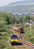66846 runs around its train of timber at Briton Ferry Yard before departing with 6Z51, 1600 Baglan Bay to Chirk (Kronospan) on 29th May 2012.