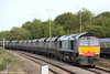 DRS 66415 arrives at Stoke Gifford Yard with 4V22, 0930 from Fiddlers Ferry Power Station on 1st September 2012.