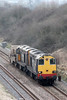 DRS 20308 and 20309 at Standish with 6M56, 1343 Berkeley Power Station to Crewe nuclear flask on 22nd March 2012.