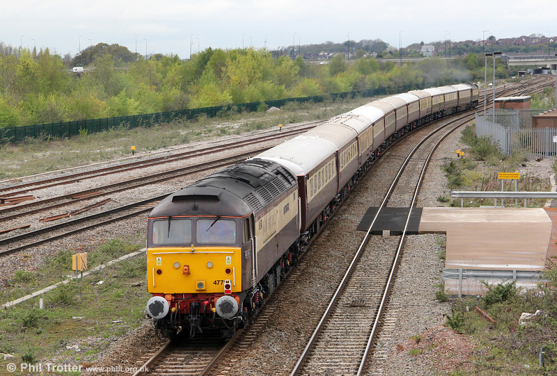 47790 'Galloway Princess' brings up the rear of 5Z40, 1220 Bath Spa to Pengam Northern Belle ECS on 27th April 2012.