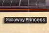 Nameplate of 47790 'Galloway Princess' at Fishguard Harbour on 2nd March 2012.