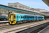 Recently refurbished 158822 looks good in the sunshine at Newport, forming 1V79, 1030 Manchester Piccadilly to Milford Haven on 29th March 2012.