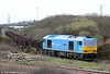 60074 'Teenage Spirit' leaves Trostre Works with 6B64, 1625 to Margam on 18th March 2012.