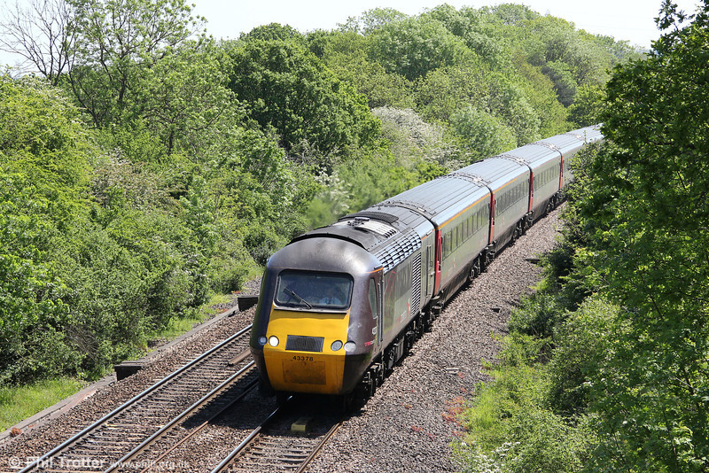 XC 43378 passes Ram Hill heading 1V48, 0744 York to Penzance on 26th May 2012.