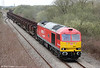 60007 'The Spirit of Tom Kendell' departs from Trostre with 6B16, 1536 to Margam on 31st March 2012.