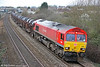 66097 passes Pyle with 6H25, 1022 Margam to Llanwern on 4th March 2012.
