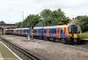 450083 slows to call at Havant forming 1P50, 1445 Portsmouth Harbour to London Waterloo on 23rd June 2012.