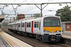321366 is seen at Shenfield forming 2K54, 1413 London Liverpool Street to Southend Victoria on 25th August 2012.