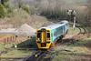 Recently refurbished 158838 at Tondu forming 2G56, 0917 Maesteg to Cheltenham Spa on 24th March 2012.