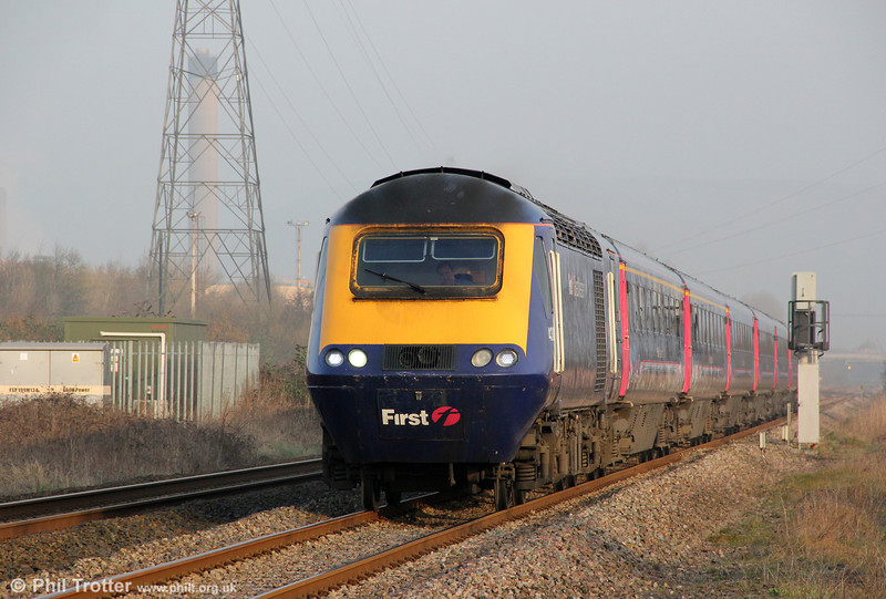 FGW's 1L38, 0758 Swansea to London Paddington passes Margam on 1st March, 2012.