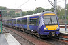Saltire liveried 170430 arrives at Edinburgh forming 2K21, 1023 fom Glenrothes on 6th August 2012. The idea behind the new livery is that it will present a unified image for all Scotrail services and will be retained irrespective of which operator holds the franchise. All that would need to change would be the small 'Scotrail is operated by...' sticker on the doors.