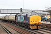 37409 'Lord Hinton' passes through Eastleigh again with Pathfinder's 1Z62, 1408 Eastleigh Works to Southampton Western Docks, 'The Hampshire Hotchpotch' on 5th May 2012.