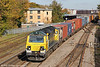 The autumn sunshine highlights the latest of the Freightliner Class 70s, 70020 as it passes Oxford with 4O27, 0527 Garston to Southampton on 27th October 2012.