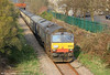 66304 at the rear of  Pathfinder's 1Z66, 1036 Tondu to Cwmgwrach, 'The Coal Grinder' railtour at Resolven on 24th March 2012.