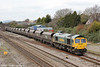 66951 runs through Magor with 4F56, 1042 Fifoots Power Station to Stoke Gifford on 21st March 2012.