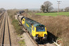 70014 is seen at Llandevenny with 4F56, 1042 Fifoots Power Station to Stoke Gifford on 23rd March 2012.