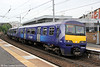 Scotrail's 22 class 320 units are gradually being repainted into the new livery as seen on 320302 at Partick forming 2F58, 0909 Balloch to Motherwell on 5th August 2012.