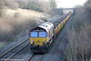 66188 descends Stormy Bank with 6W20, 1005 Cardiff Queen Street to Hinksey via Margam (reverse) on 7th January 2012. Track relaying was taking place at Cathays.