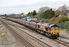 66109 at Magor heading 4E66, 0855 Margam to Redcar on 21st March 2012.