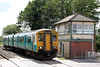 Last look: ATW's 150230 passes Lydney Crossing Ground Frame forming 2G62, 1415 Maesteg to Cheltenham Spa on 30th June 2012. The former signalbox is due to be demolished shortly as part of Network Rail's plan to modernise the crossing. The type 27C box was built in 1918 by the GWR and was called Lydney West until 1969.