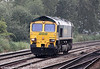 66536 heads along the main line near Newport ADJ running as 0V50, Wentloog to Stoke Gifford on 8th September 2012.