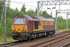 67017 'Arrow' passes Motherwell running as 0K16, 1155 Glasgow Central to Mossend on 5th August 2012.