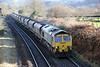66523 passes Penpergwm with 6M04, 1050 Portbury to Crewe Basford Hall on 1st December 2012.