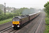 West Coast's 47854 has now been given the name 'Diamond Jubilee'. The loco passes a very wet and gloomy Magor on 3rd June 2012 heading 5Z39, 1506 Bristol Temple Meads to Crewe, the ECS from the previous day's Newport to Carlisle Railtour.