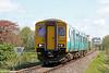 150285 has just crossed Glanrhyd Bridge, forming 2V38, 0900 Shrewsbury to Swansea on 12th May 2012.