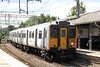317507 calls at Seven Sisters forming 1B58, 1150 London Liverpool Street to Stanstead Airport on 26th August 2012.