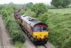 66050 'EWS Energy' is seen at Llandevenny with 6W05, 0905 Cardiff Queen Street to Westbury on 3rd June 2012.