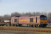 60045 'The Permanent Way Institution' in use as yard shunter at Margam Knuckle Yard on 26th February 2012.