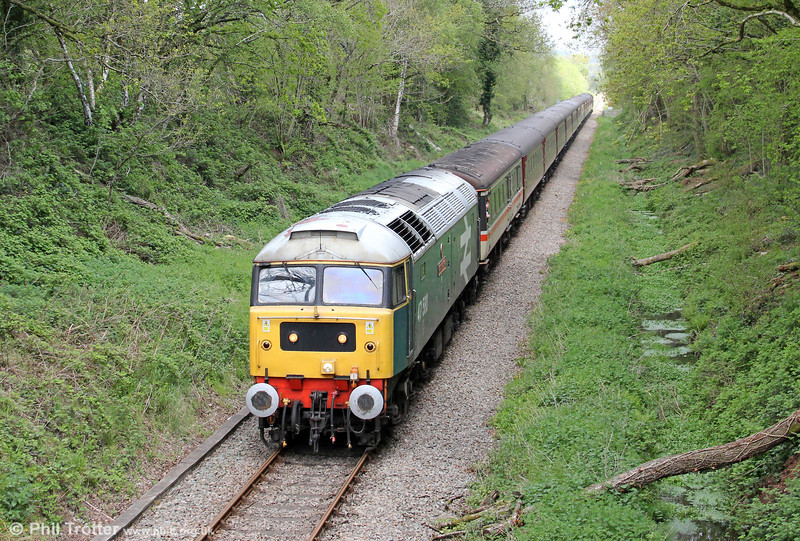 Specials over the Heart of Wales Line are always plentiful at this time of year. On 11th May 2012 the Stratford 47 Group's 47580 'County of Essex' is seen near Pontarddulais with Compass Tours 1Z42, 0513 Dumfries to Cardiff Central, 'The Heart of Wales Scenic Rambler'. West Coast's 47851 was at the rear.