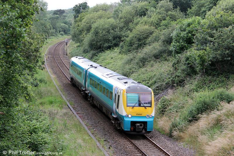 175007 climbs through Waunarlwydd forming 2E07, 1107 Carmarthen to Swansea on 15th July 2012.