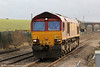 66084 runs light through Cholsey as 0A01, 1210 Acton to Didcot on 15th December 2012.