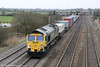 66558 passes Coedkernew with a well loaded 4O51, 0958 Wentloog to Southampton on 16th March 2012.